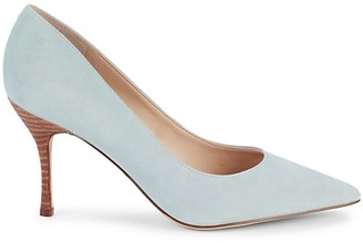 Marc Fisher Carter Suede Point-Toe Pumps