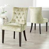 Safavieh En Vogue Dining Abby Nail-head Bronze Velvet Side Chairs (Set of 2)