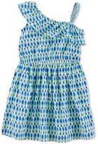 Carter's One-Shoulder Geo-Print Cotton Dress, Toddler Girls
