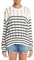 Alexander Wang Women's Stripe Cotton Pullover