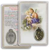 Gifts by Lulee Prayer to Saint Joseph for Employment Laminated Prayer Card with Medal Blessed By Pope Francis