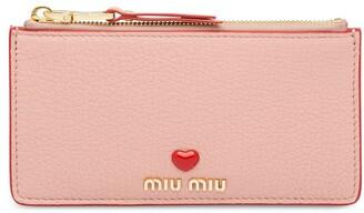 Miu Miu Heart Logo Pouch