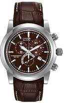 Citizen Men's Eco-Drive Chronograph Stainless Watch #AT0550-11X