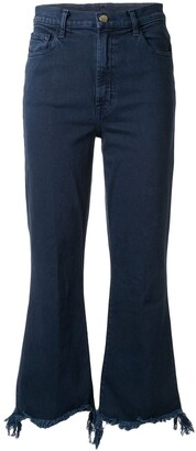 J Brand Flared Distressed Jeans