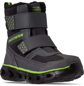 Skechers Little Boys S Lights Hypno-Flash 2.0 Street Breeze Light Up Adjustable Strap Boots from Finish Line