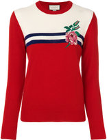 Gucci rose intarsia jumper
