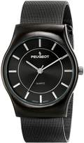 Peugeot Men's 1002GN Stainless Steel Watch with Mesh Bracelet