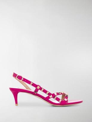 Valentino Rockstud kitten-heel sandals