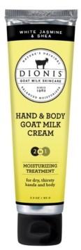 Dionis Hand Body Goat Milk Cream, White Jasmine Shea, 3.3 oz