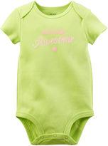 Carter's Short-Sleeve Slogan Bodysuit - Baby Girls newborn-24m