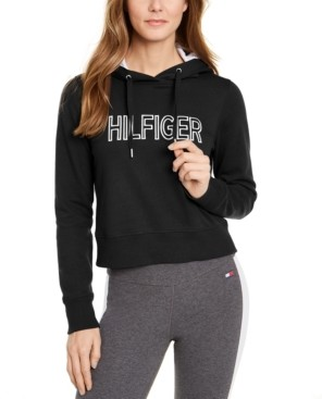 Tommy Hilfiger Logo Cropped Hoodie