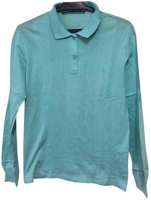 Christian Dior Turquoise Cotton Polo shirts