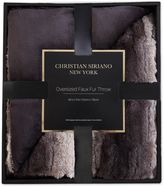 Christian Siriano Ombre Faux Fur Throw Blanket in Black