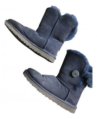 UGG Navy Shearling Boots