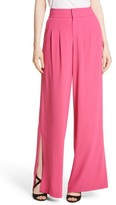Alice + Olivia Women's Shavon High Waist Side Slit Flare Pants