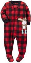 Carter's Baby Boy Animal Fleece Footed Pajamas