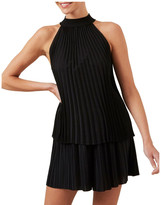 French Connection High Neck Pleated Top
