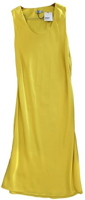 Protagonist Yellow Silk Dress for Women