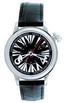 Gio Monaco Women's 388-A 101 THS Automatic Black Alligator Leather Watch