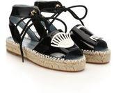 Chiara Ferragni Wink Patent Leather Espadrille Sandals