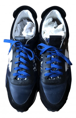 Fendi Blue Leather Trainers