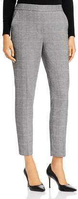 Kenneth Cole Windowpane-Check Straight-Leg Pants