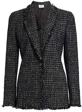 Akris Punto Women's Frayed Trim Tweed Blazer