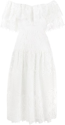 Self-Portrait Lace Tiered Dress