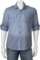Apt. 9 Men's Modern-Fit Slubbed Roll-Tab Button-Down Shirt