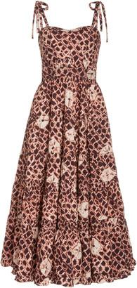 Ulla Johnson Eryn Pleated Cotton Dress