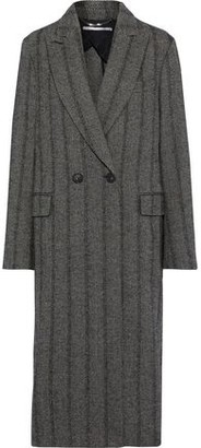 Stella McCartney Double-breasted Herringbone Wool-blend Coat