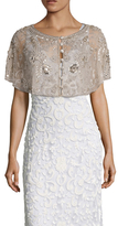 Embellished Button Front Capelet