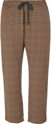 Barena Checked Virgin Wool-Blend Drawstring Trousers