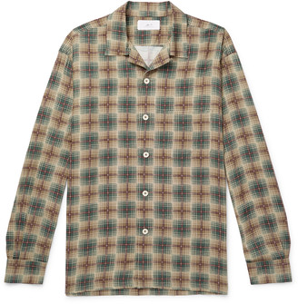 Mr P. Camp-Collar Checked Woven Shirt