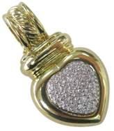 David Yurman 18K Yellow Gold Diamond Heart Enhancer Pendant