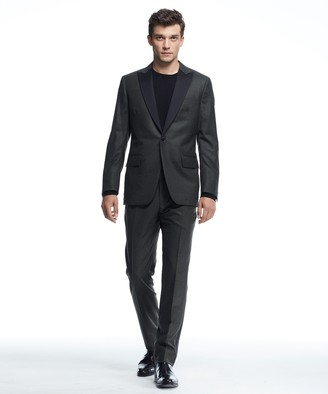 Todd Snyder Sutton Peak Lapel Wool Tuxedo Jacket in Olive