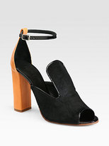 Chloé Pony Hair and Leather Sandals