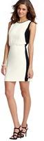 LOFT Colorblocked Blouson Crepe Dress