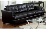 Acme 15090B Diamond Bonded Leather Sofa with Wood Leg, Black (Sofa Only)