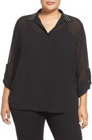 MICHAEL Michael Kors Embellished Shirt (Plus Size)