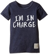 The Original Retro Brand Kids - I'm in Charge Short Sleeve Tri-Blend Tee Boy's T Shirt
