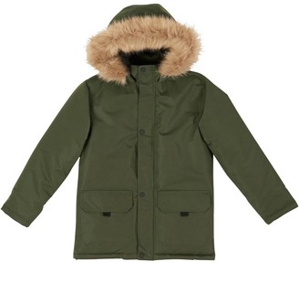 Fluid Boys Padded Parka Jacket Khaki