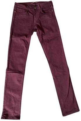 Comptoir des Cotonniers Burgundy Cotton - elasthane Jeans for Women