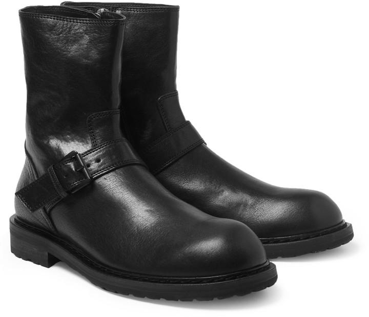 Ann Demeulemeester Leather Biker Boots