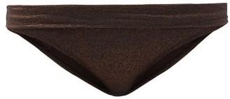 Heidi Klein Solta Hgh-rise Fold-over Bikini Briefs - Brown