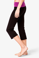 Forever 21 Contrast Foldover Athletic Capris