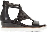 Mjus Tapasita Leather Wedge Heel Sandals
