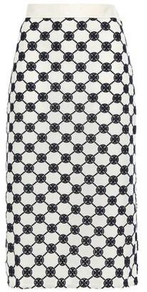 Tory Burch Monogram-print Guipure Lace Pencil Skirt