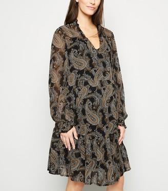 New Look Maternity Paisley Chiffon Smock Dress