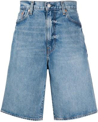 Levi's Wide-Leg Denim Bermuda Shorts